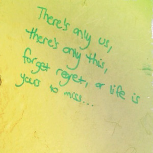 Love finding quotes in random places.
