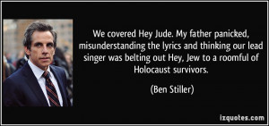 ... lead singer was belting out Hey, Jew to a roomful of Holocaust