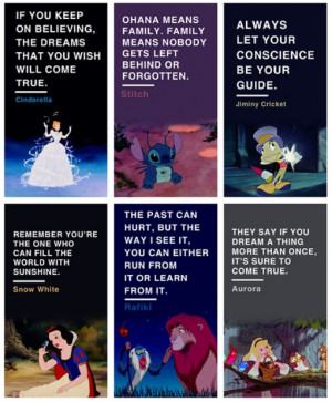 aurora, cinderella, disney, jiminy cricket, quotes, rafiki, snow white ...