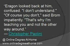 ... onlinedegreeathome com book quot eragon quotes favorit quot educ quot