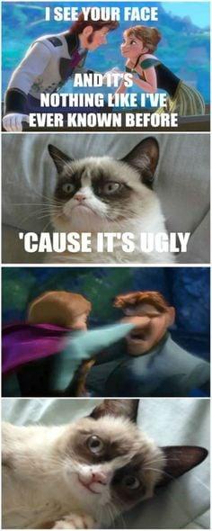 ... grumpy cat anna frozen funny frozen disney face frozen and grumpy cat