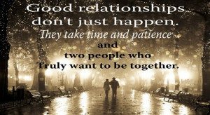 ... relationships come from the fact that most people enter a relationship