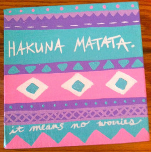Canvas Painting Hakuna Matata Quote by kalligraphy on Etsy