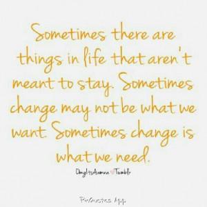 think I need a change