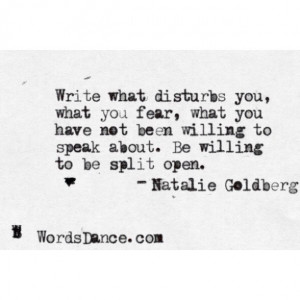willing to be split open. - Natalie Goldberg #poetry #writing