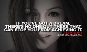 Cher lloyd dreams quote