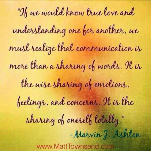 True Love. Marvin J. Ashton