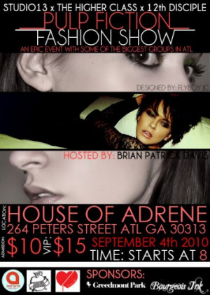 """Pulp Fiction"""" at House of Adrene–This Weekend. Related Images"""