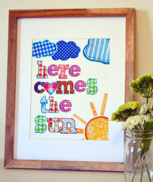 ... quote art- beatles song- beatles lyric- music nursery- toddler room