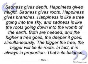 sadness gives depth osho