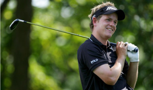 Luke Donald is off to his best start in a major all year. (Photo ...