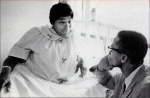 Betty Shabazz and Malcolm X