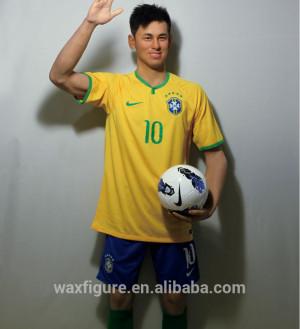 ... figure of world famous male brazil football player Neymar wax figure