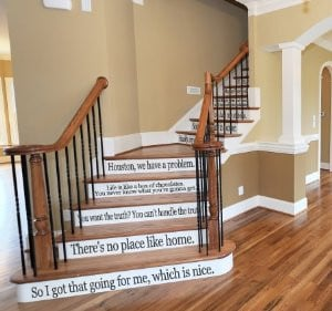 Movie Quote Set LARGE Assorted Sayings Vinyl Stairs or Wall Decal Film ...