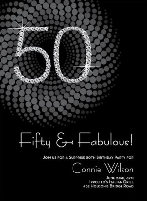 50th birthday party invitation quotes