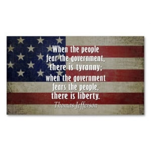 Thomas Jefferson Quote on Liberty and Tyranny Double-Sided Standard ...