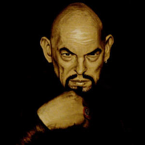 Anton Lavey Charcoal Portrait by piajartist