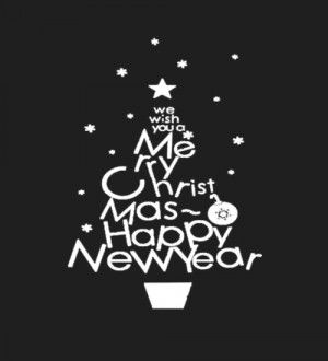 We Wish Christmas Tree Happy new year Gifts-Wall Stcker Quote Vinyl ...