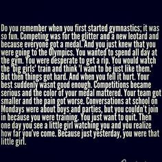 Gymnastics quotes make me cry a little. Just thinking that my ...