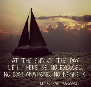 At The End of the day - No Regrets