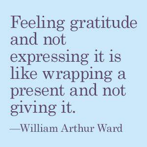 Express your gratitude
