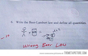 funny test answer exam math