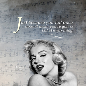 Inspirational iPad Wallpaper – Failure by Marilyn Monroe