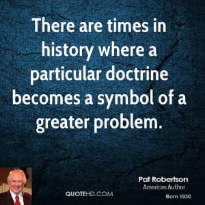 ... where a particular doctrine becomes a symbol of a greater problem