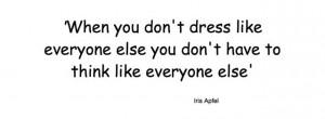 Quote Iris Apfel