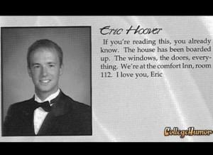 Best yearbook quote EVER. Old School.