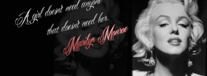 Quote Marilyn Monroe Anyone Facebook Timeline Covers