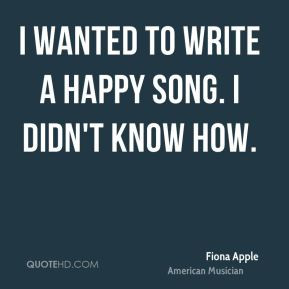 More Fiona Apple Quotes