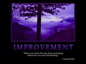 ... on Improvement : When you reach the top Quote by (Lincoln Patz