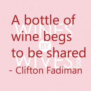 bottle of #wine begs to be shared