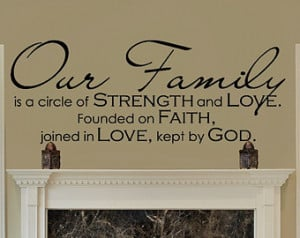 Christian Family Quotes Our family - family quote