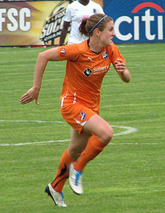 Reilly playing for Sky Blue FC , 2010.