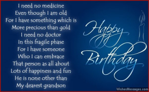 Cute birthday card poem for grandson
