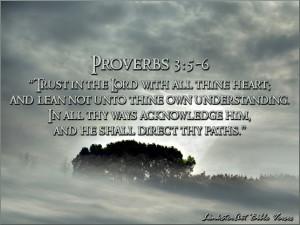 LinksterArt Bible Verses: Proverbs 3:5-6