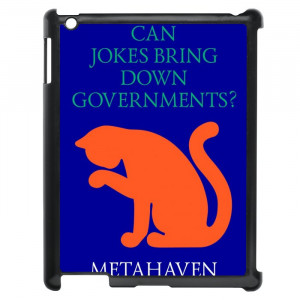 Funny Political Quotes Cat Design iPad Case