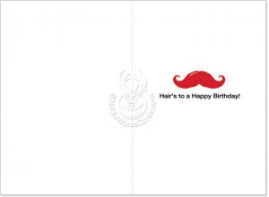 Keep Calm Mustache Hilarious Birthday Greeting Card image 1