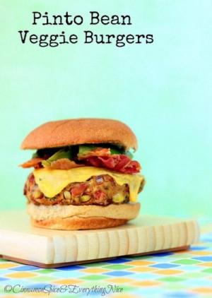 Pinto Bean Veggie Burgers