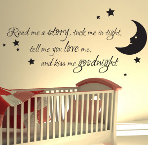 ... about NURSERY WALL STICKER READ ME A STORY KIDS ART DECALS QUOTES W47