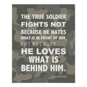 Army Quotes, Military Poster, Chesterton