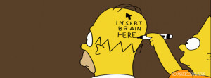 Insert Brain Here Facebook Cover