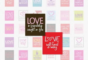 LOVE SAYINGS - Scrabble Size .75x.83 Inches Digital Collage Sheet for ...