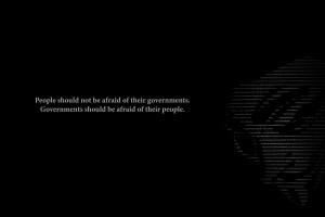 Government BW Black V for Vendetta Afraid anarchy texts wallpaper ...