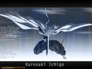 Download Bleach wallpaper, 'Ichigo Poem'.