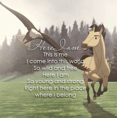 ... Quotes, Wild Horses Quotes, Spirit The Movie Quotes, Favorite Movie