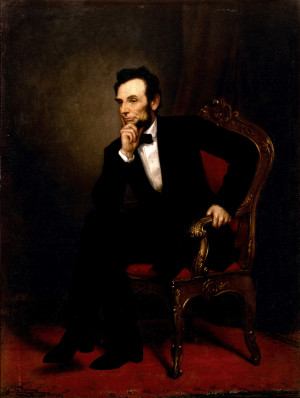 Lincoln, painting by George Peter Alexander Healy. Abraham Lincoln ...