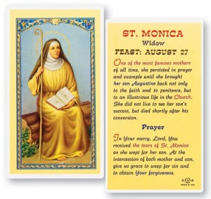 St. Monica Prayer Biography Laminated Prayer Cards 25 Pack - Full ...